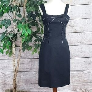 Abaete Black Bodice Sleeveless Sheath Dress 8